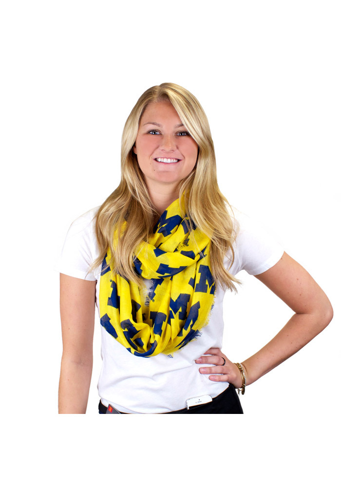 Michigan Wolverines Logo Infinity Womens Scarf - Image 1