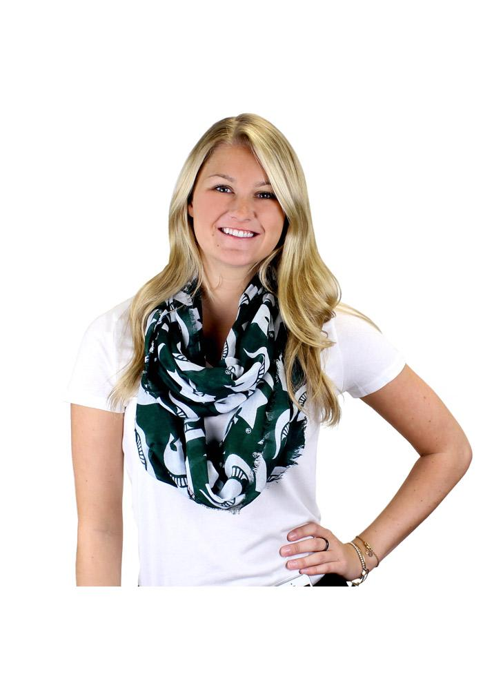 Michigan State Spartans Logo Infinity Womens Scarf - Image 2