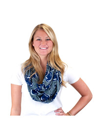 Penn State Nittany Lions Womens Logo Infinity Scarf - Navy Blue