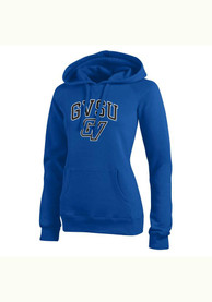 Grand Valley State Lakers Womens Blue Eco Sport Hoodie