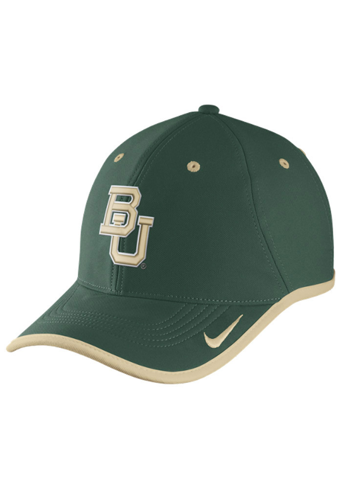 Nike Baylor Bears Performance Coaches Adjustable Hat - Green - Image 1