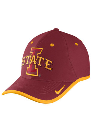 Nike Iowa State Cyclones Mens Crimson Performance Coaches Adjustable Hat