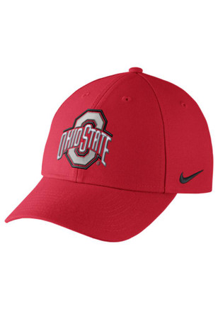 Nike Ohio State Buckeyes Mens Red Dri-Fit Wool Classic Adjustable Hat