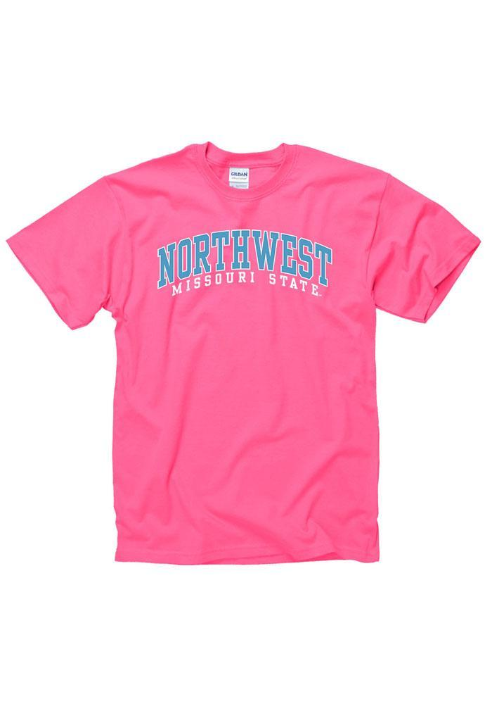 Northwest Missouri State Bearcats Juniors Pink Fashion Practice Short Sleeve Unisex Tee - Image 1