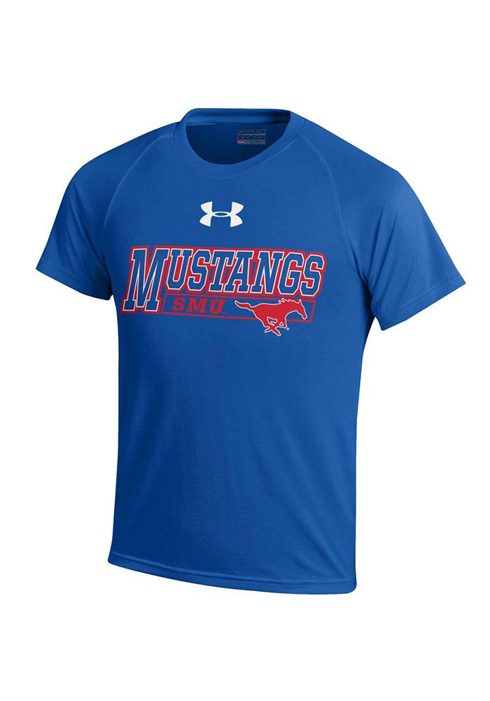 Under Armour Mustangs Youth Blue Tech Performance T-Shirt 55290173