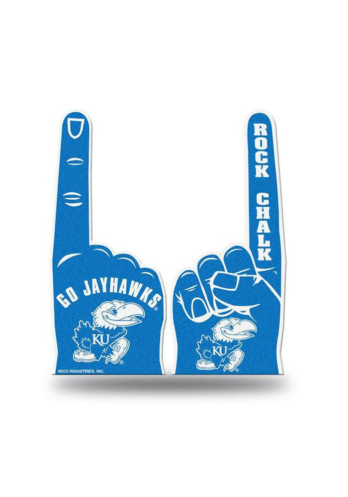 Kansas Jayhawks Blue Foam Finger - Image 1