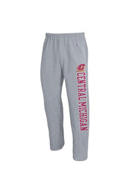 Central Michigan Chippewas Champion Open Bottom Sweatpants - Grey