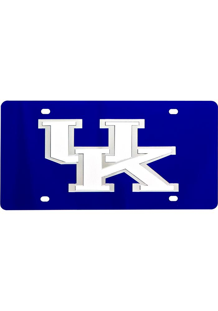 Kentucky Wildcats Logo on Blue Car Accessory License Plate - Image 1