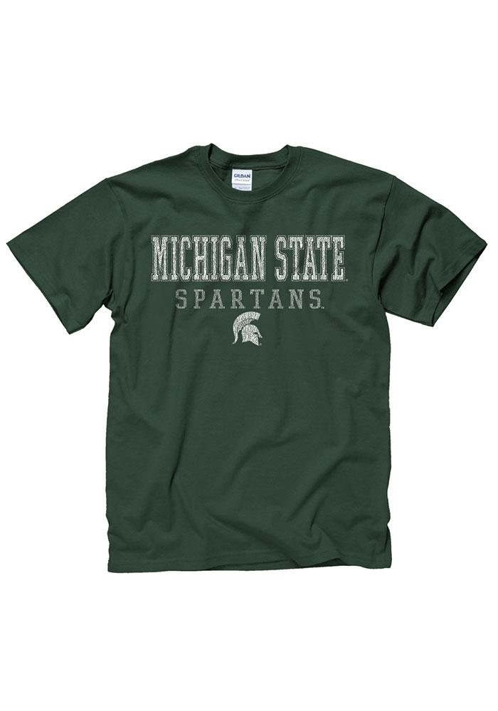 Michigan State Spartans Green Worn Out Tee