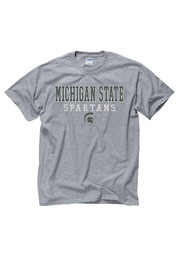Michigan State Spartans Grey Worn Out Tee
