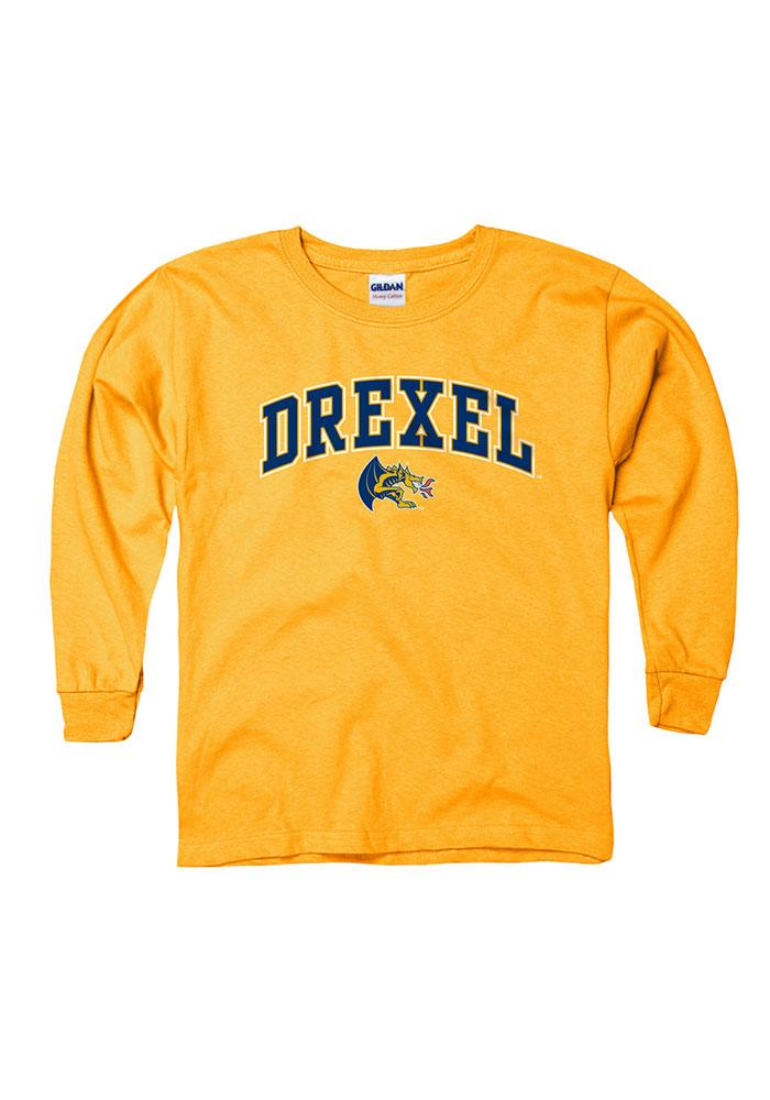 official photos 6977b afe73 Drexel Dragons Youth Gold Arch Mascot Long Sleeve T-Shirt