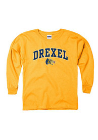 Drexel Dragons Youth Gold Arch Mascot T-Shirt