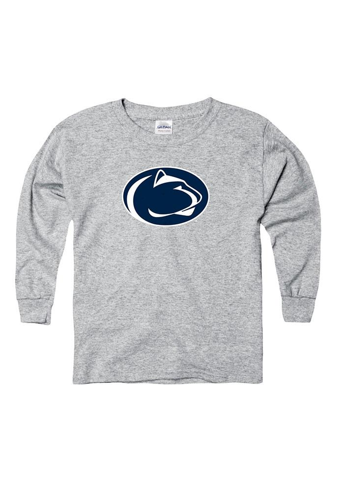 Penn State Nittany Lions Youth Grey Mascot Long Sleeve T-Shirt - Image 1