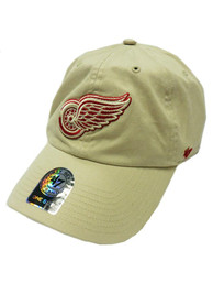 Detroit Red Wings 47 Clean Up Adjustable Hat - Natural