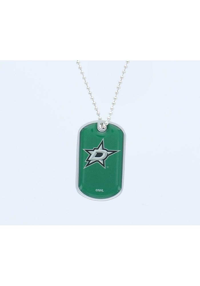 Dallas Stars Domed Dog Tag Necklace - Image 1