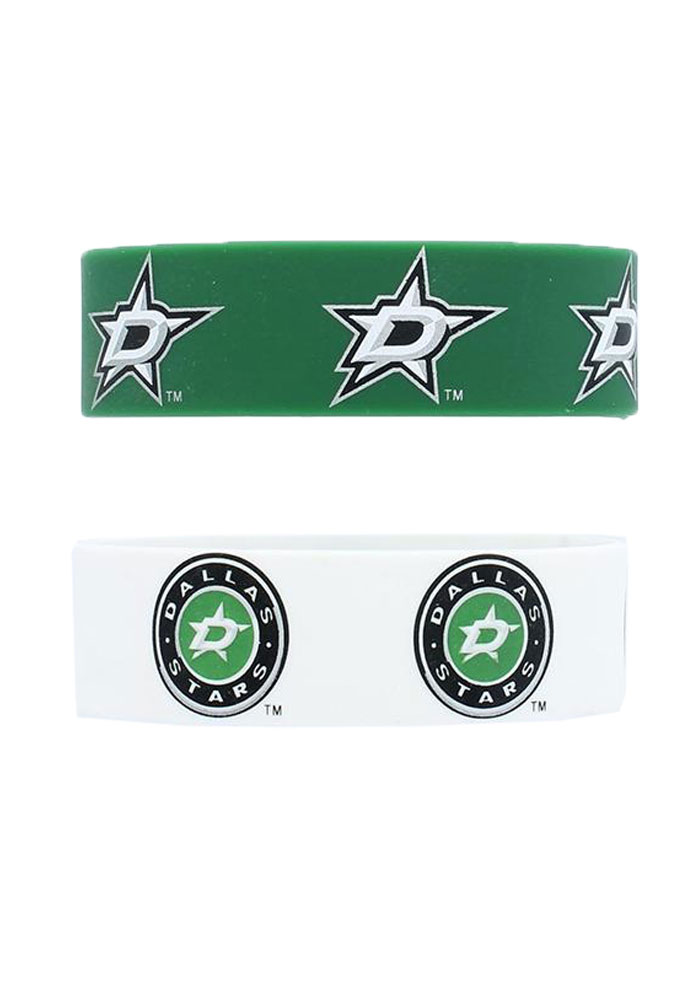 Dallas Stars 2 Pack Silicone Kids Bracelet - Image 1