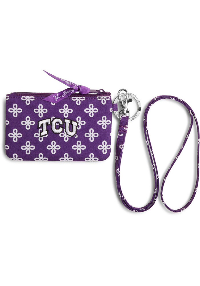 TCU Horned Frogs Vera Bradley Zip ID Lanyard Womens Wallets - Image 1