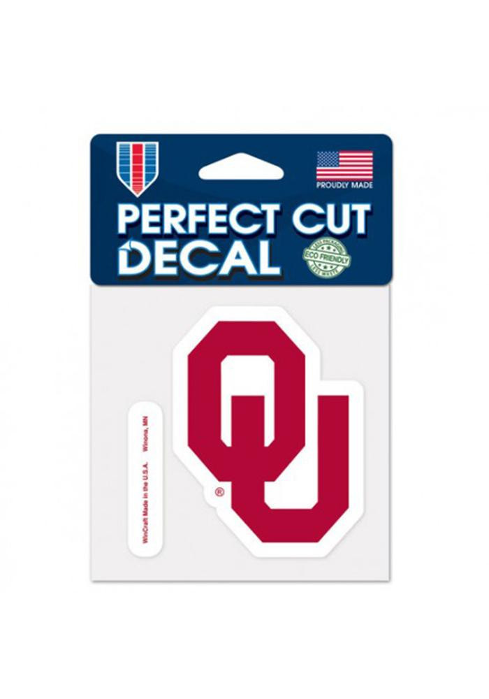 Oklahoma Sooners 4x4 Perfect Cut Decal - Image 1