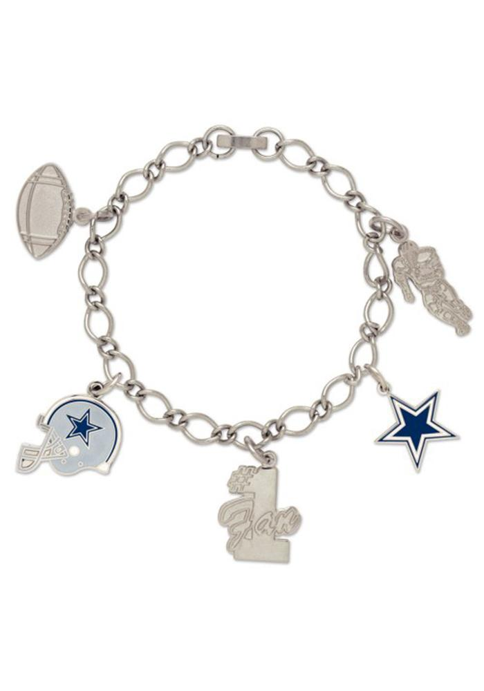 Dallas Cowboys 5 Charm Womens Bracelet - Image 1