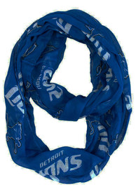 Detroit Lions Womens Sheer Infinity Scarf Scarf - Grey