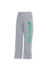 North Texas Mean Green Youth Grey Open Bottom Sweatpants
