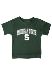 Michigan State Spartans Infant Arch Short Sleeve T-Shirt Green