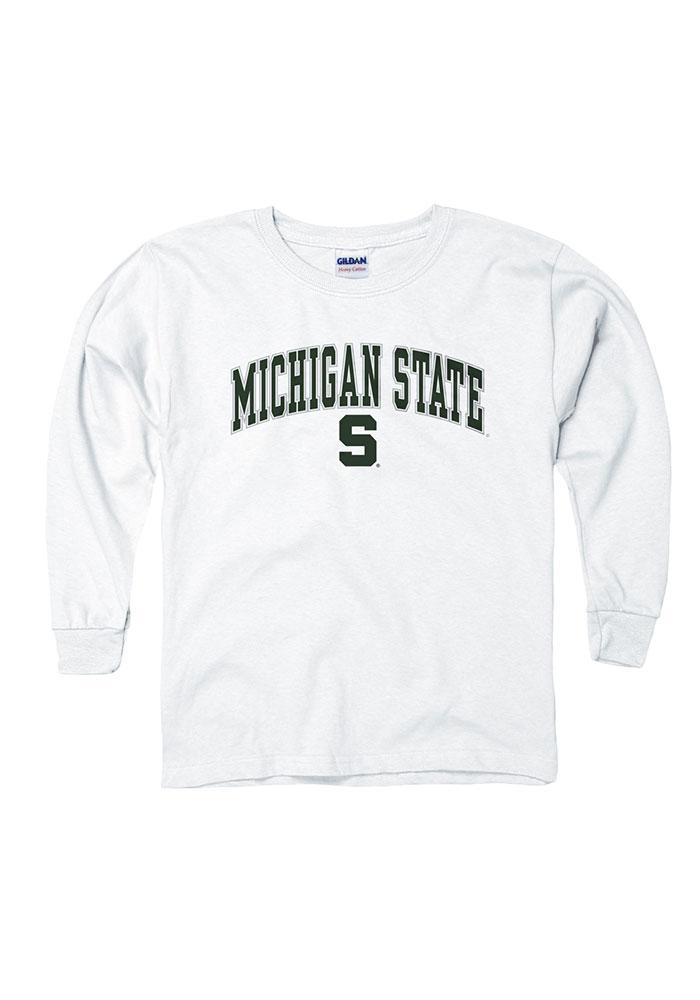Michigan State Spartans Youth White Arch Long Sleeve T-Shirt - Image 1