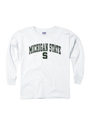 Michigan State Spartans Youth White Arch Long Sleeve T-Shirt