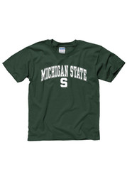 Michigan State Spartans Youth Green Arch T-Shirt