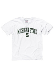 Michigan State Spartans Youth White Arch Short Sleeve T-Shirt