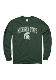 Michigan State Spartans Green Arch Tee