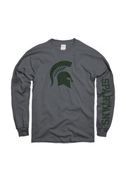 Michigan State Spartans Charcoal Logo Tee