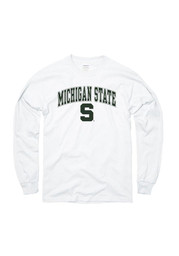 Michigan State Spartans White Arch Tee