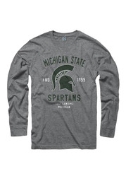 Michigan State Spartans Grey Throwback Tee