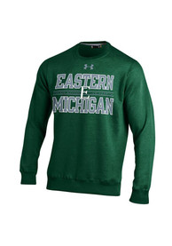 Eastern Michigan Eagles Under Armour Rival Crew Sweatshirt - Green