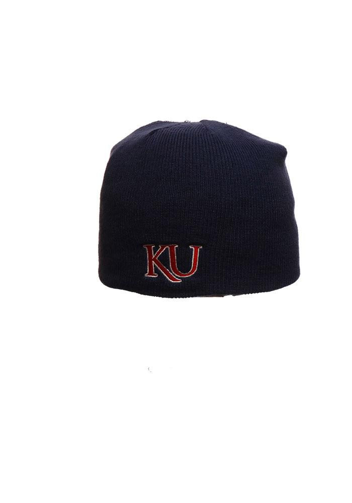 Zephyr Kansas Jayhawks Grey Edge Mens Knit Hat - Image 1