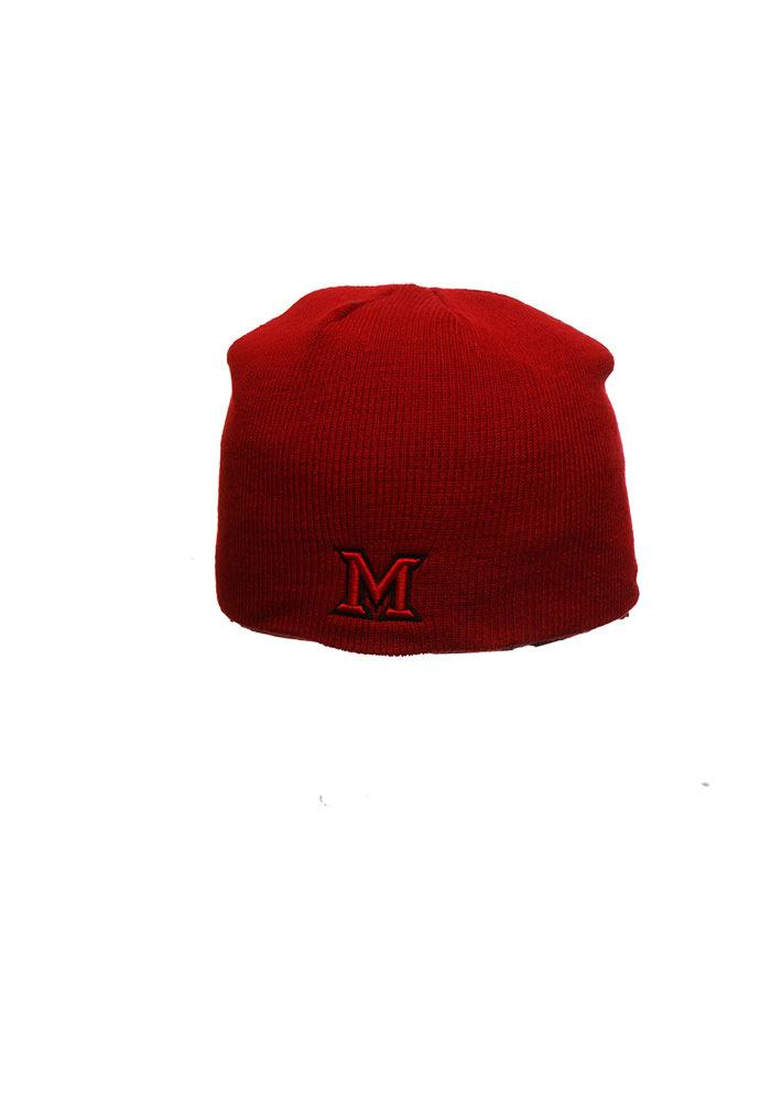 Zephyr Miami Redhawks Red Edge Mens Knit Hat - Image 1