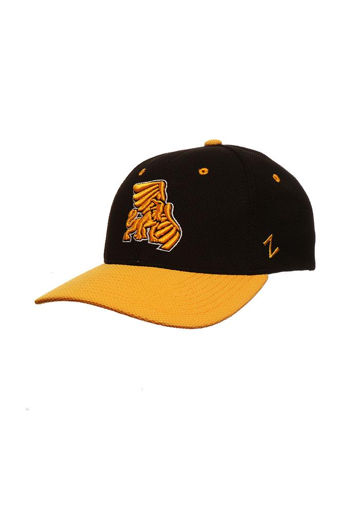 Zephyr Missouri Western Griffons Mens Black 2 Tone Action Grid Flex Hat - Image 1