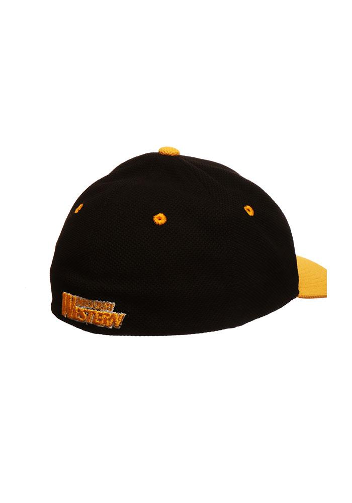 Zephyr Missouri Western Griffons Mens Black 2 Tone Action Grid Flex Hat - Image 2