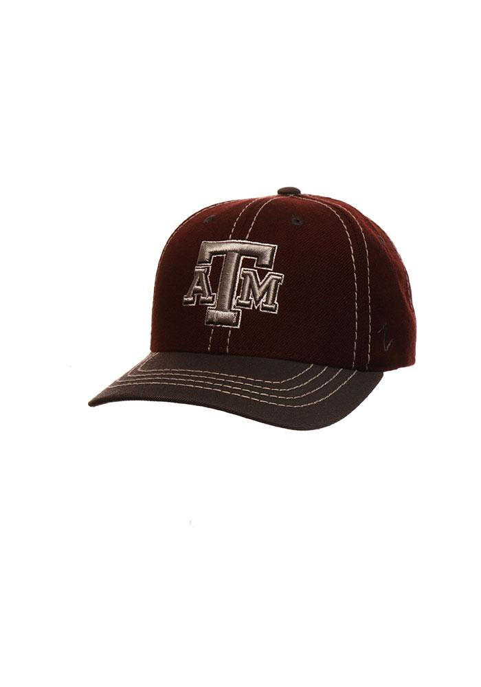 Zephyr Texas A&M Aggies Mens Maroon 2 Tone Mist Adjustable Hat - Image 1