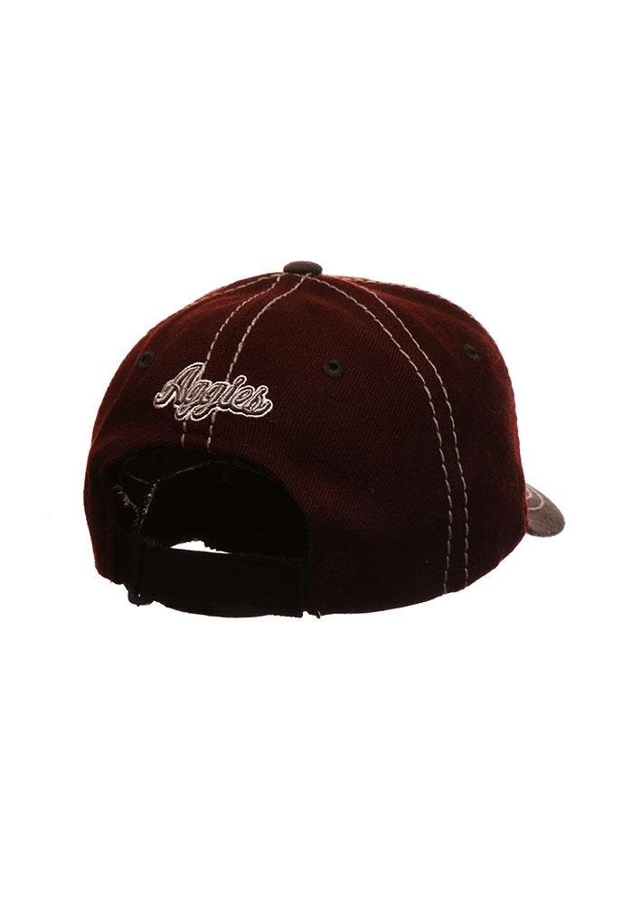 Zephyr Texas A&M Aggies Mens Maroon 2 Tone Mist Adjustable Hat - Image 2