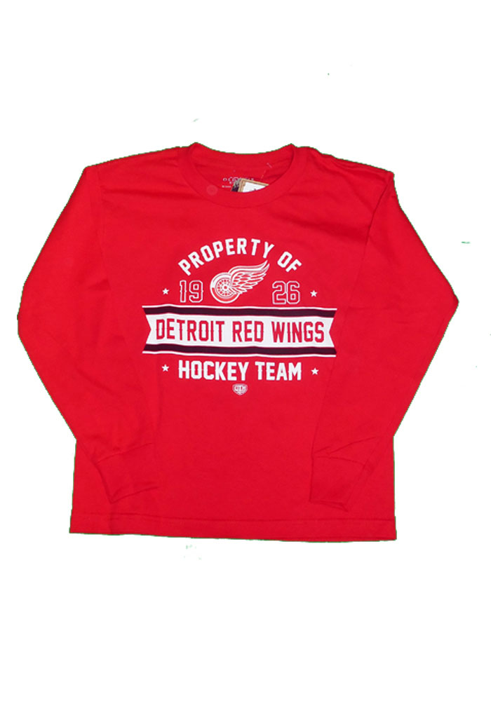 Detroit Red Wings Youth Red Red Wings graphics on front chest T-Shirt