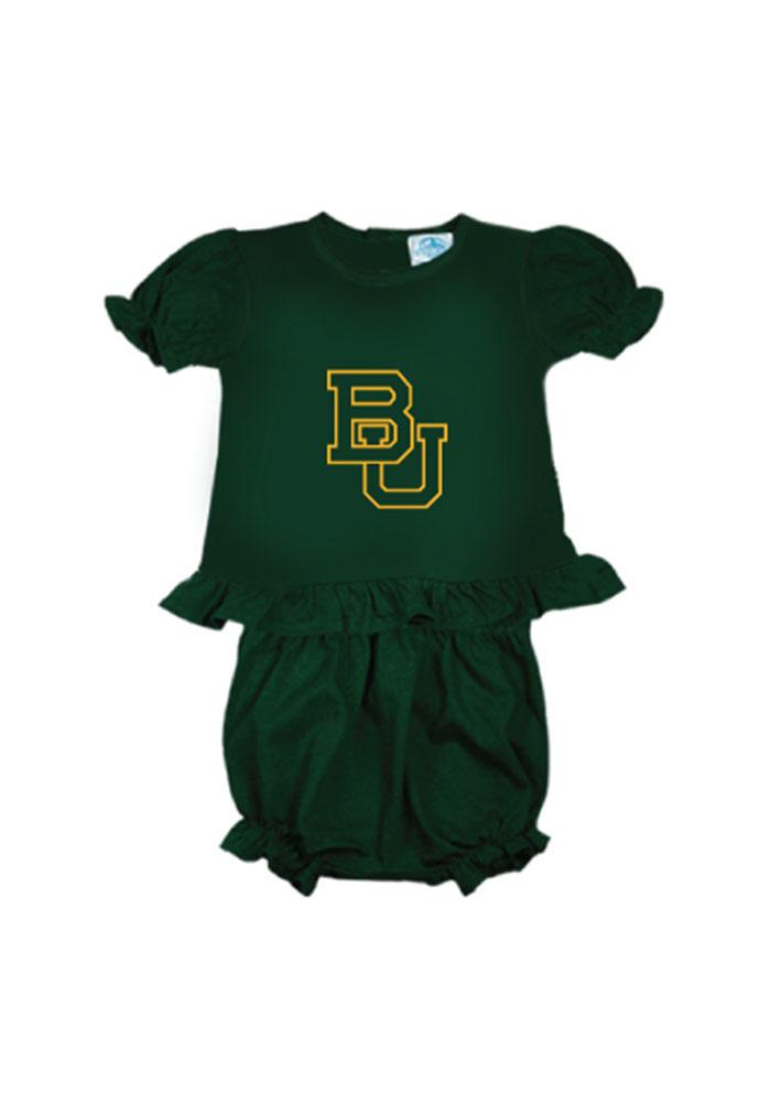 Baylor Bears Baby Green Bloomer Set Bloomer - Image 1