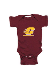 Central Michigan Chippewas Baby Maroon Logo One Piece