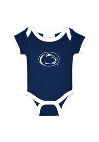 Penn State Nittany Lions Baby Navy Blue Logo One Piece