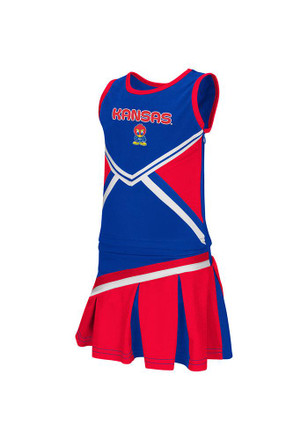 Colosseum Kansas Jayhawks Toddler Girls Blue Freshman Cheer