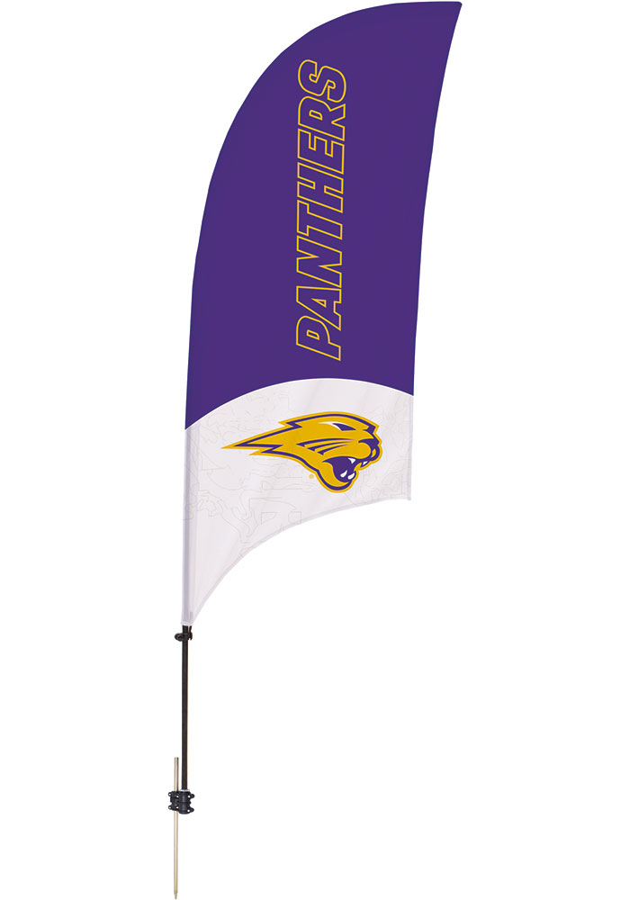 Northern Iowa Panthers 7.5 Foot Spike Base Tall Team Flag - Image 1