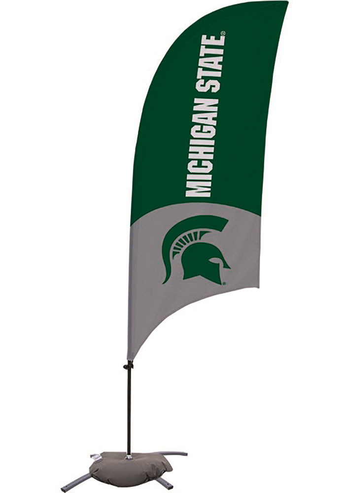 Michigan State Spartans 7.5 Foot Cross Base Tall Team Flag - Image 1