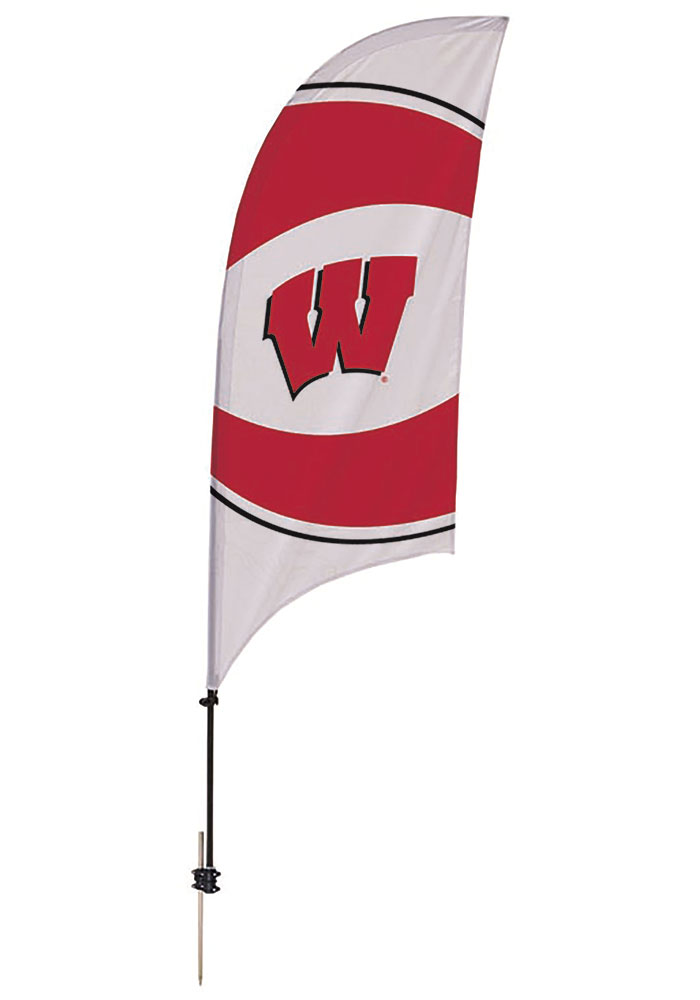 Wisconsin Badgers 7.5 Foot Spike Base Tall Team Flag - 1820109