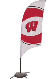 Wisconsin Badgers 7.5 Foot Cross Base Tall Team Flag